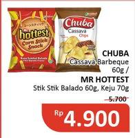 Promo Harga CHUBA CHUBA Cassava Chips/MR HOTTEST Sticks  - Alfamidi
