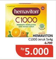 Promo Harga HEMAVITON C1000 Orange per 5 sachet 4 gr - Alfamidi