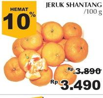 Promo Harga Jeruk Shantang per 100 gr - Giant