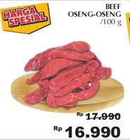 Promo Harga Daging Oseng per 100 gr - Giant