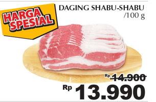 Promo Harga Sapi Shabu Shabu per 100 gr - Giant