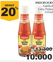 Promo Harga INDOFOOD Sambal Ekstra Pedas 335 ml - Giant