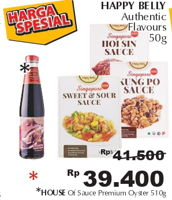 Promo Harga Happy Belly Sauce Premium Oyster 510 gr - Giant