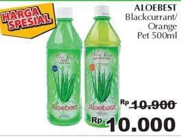 Promo Harga ALOEBEST Minuman Ringan Blackcurrant, Orange 500 ml - Giant