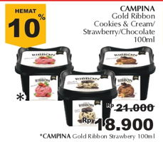 Promo Harga CAMPINA Gold Ribbon Strawberry 100 ml - Giant