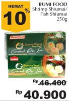 Promo Harga BUMIFOOD Bumifood Shrimp/Fish Shumai 250 gr - Giant