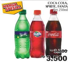 Promo Harga Coca Cola/Fanta/Sprite 250 ml - Giant