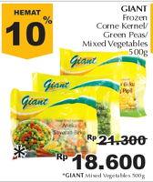 Promo Harga GIANT Mixed Vegetable 500 gr - Giant