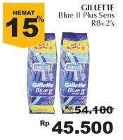 Promo Harga GILLETTE Blue II Plus  - Giant