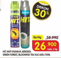 Promo Harga HIT Aerosol Green Forest, Blooming Tea 675 ml - Superindo