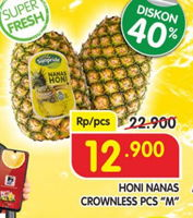 Promo Harga HONI Sunpride Nanas Crown Medium  - Superindo