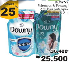 Promo Harga DOWNY Plus Collection Anti Apek, Anti Bau 720 ml - Giant