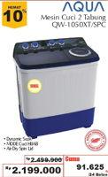 Promo Harga AQUA 1050 XT | Washing Machine Top Load  - Giant