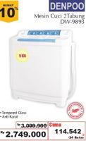 Promo Harga DENPOO DW-9893 Washing Machine  - Giant