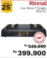 Promo Harga RINNAI RI 522C   Gas Stove  - Giant