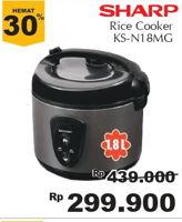 Promo Harga SHARP KS-N18MG | Rice Cooker 1.8ltr  - Giant