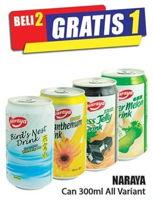 Promo Harga NARAYA Minuman Kaleng All Variants 300 ml - Hari Hari