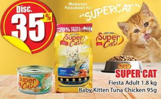 Promo Harga SUPER CAT SUPER CAT Fiesta Adult 1.8kg, Baby Kitten Tuna Chicken 95gr  - Hari Hari