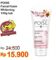 Promo Harga POISE Facial Foam Luminuous White 100 gr - Indomaret