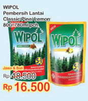 Promo Harga WIPOL WIPOL Karbol Wangi 800ml/780ml  - Indomaret