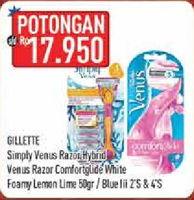Promo Harga GILLETTE GILLETTE Simply Venus/Foamy Lemon Lime  - Hypermart
