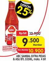 Promo Harga ABC Sambal Extra Pedas, Asli 335 ml - Superindo