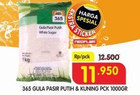 Promo Harga 365 Gula Pasir Putih/ Kuning 1 kg - Superindo