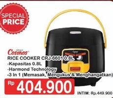 Promo Harga COSMOS CRJ 6601   Rice Cooker  - Hypermart