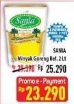 Promo Harga SANIA Minyak Goreng 2000 ml - Hypermart
