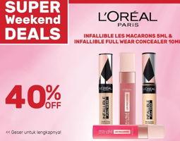 Promo Harga LOREAL LOREAL Infallible Ultra Matte/ Full Wear Concealer  - Guardian