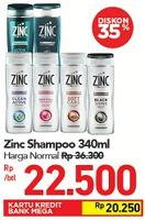 Promo Harga ZINC Shampoo 340 ml - Carrefour
