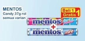 Promo Harga MENTOS Candy All Variants 37 gr - Indomaret