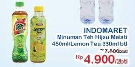 Promo Harga INDOMARET INDOMARET Minuman Teh per 2 botol - Indomaret