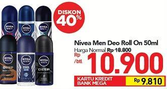 Promo Harga NIVEA MEN Deo Roll On 50 ml - Carrefour