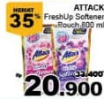 Promo Harga ATTACK Fresh Up Softener 800 ml - Giant