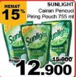 Promo Harga SUNLIGHT Pencuci Piring 755 ml - Giant