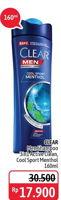 Promo Harga CLEAR Men Shampoo Active Clean, Anti Dandruff Cool Sport Menthol 160 ml - Alfamidi