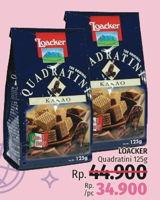Promo Harga LOACKER Quadratini Wafer 125 gr - LotteMart