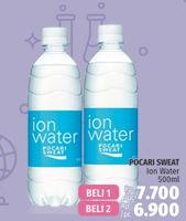 Promo Harga POCARI SWEAT Minuman Isotonik Ion Water per 2 botol 500 ml - LotteMart
