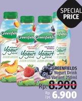Promo Harga GREENFIELDS Yogurt Drink All Variants 250 ml - LotteMart