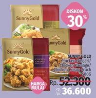 Promo Harga SUNNY GOLD Chicken Nugget / Chicken Karaage / Chicken Crispy Crunch 500gr  - LotteMart