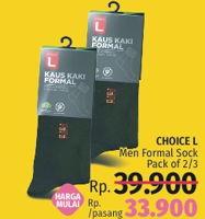 Promo Harga CHOICE L Men Formal Sock Pack 2/3  - LotteMart