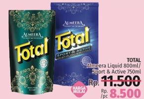 Promo Harga TOTAL Almeera Liquid 800ml / Sport & Active 750ml  - LotteMart