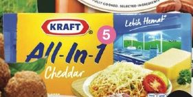 Promo Harga KRAFT All in 1 Cheddar 165 gr - LotteMart