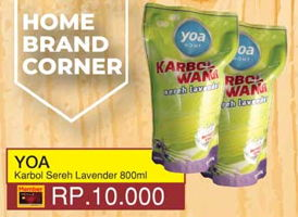 Promo Harga YOA Karbol Lavender 800 ml - Yogya