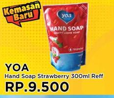 Promo Harga YOA Hand Soap Strawberry 300 ml - Yogya