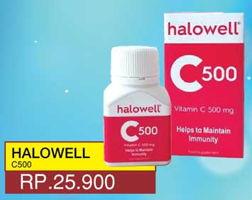 Promo Harga HALOWELL Vitamin C 500 mg  - Yogya