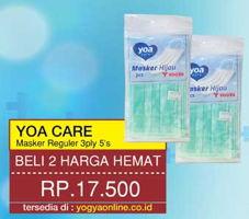 Promo Harga YOA Masker Reguler per 2 pouch 5 pcs - Yogya