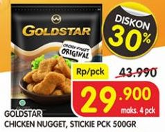 Promo Harga GOLDSTAR Chicken Nugget / Stick 500 gr - Superindo