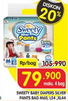 Promo Harga SWEETY Silver Pants M60, L54, XL44  - Superindo